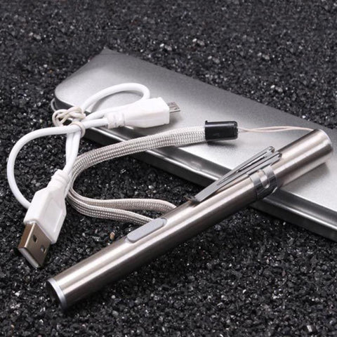Mini Stainless Steel Small Pocket Flashlight Camping Survival Tool - fobglobal