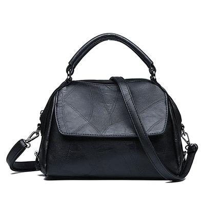 Image of Leather Shoulder Retro Crossbody Handbag - fobglobal