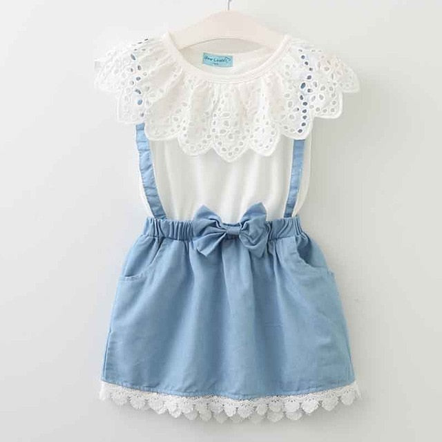 New Girls  Princess Dress Sleeveless A-Line Appliques 3-7Y - fobglobal