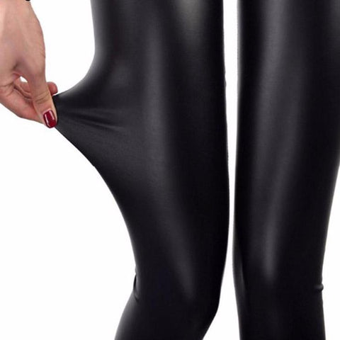 Image of Fashion Faux Leather Leggings Plus Sizes - fobglobal