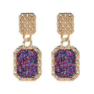 4 Designs Statement Earrings With Crystals