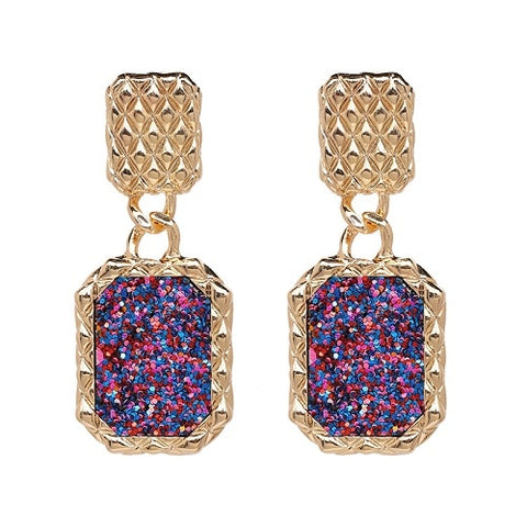 Image of 4 Designs Statement Earrings With Crystals - fobglobal