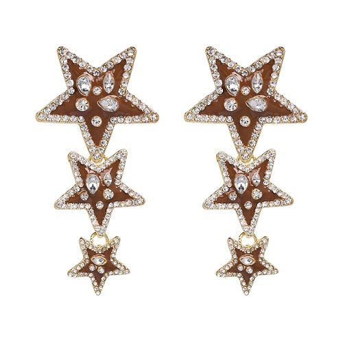 4 Designs Statement Earrings With Crystals - fobglobal