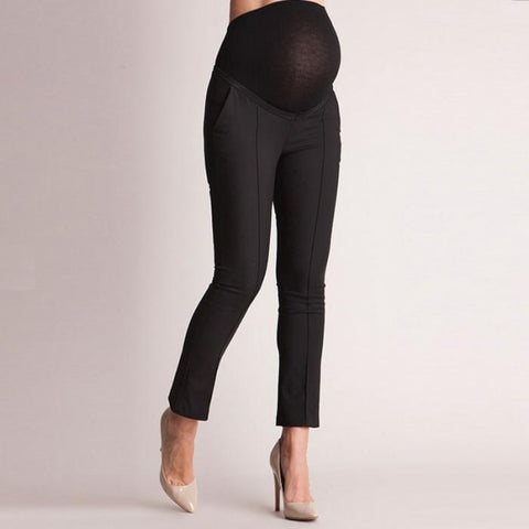 Women Maternity Pants Solid Colour High Elasticity
