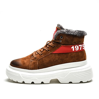 Fashion Men's Winter Snow Warm Suede Boots