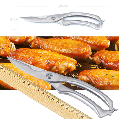 Stainless Steel Chicken Bone Scissor Cutter Kitchen Gadget