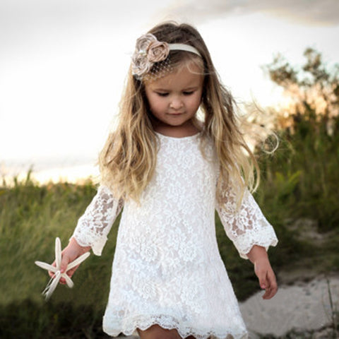 Image of Toddler Girls Princess Lace Dress for 1-4Y