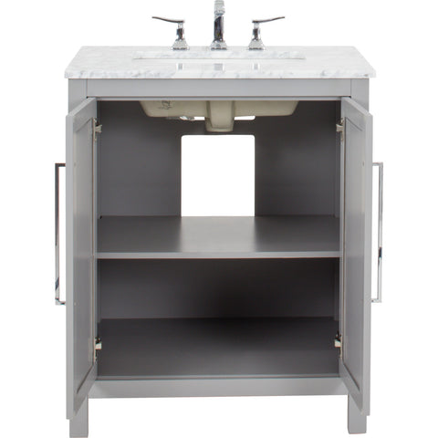 "Jeffrey Alexander Cade Contempo 30"" Vanity With Pre-assembled Top and Bowl"
