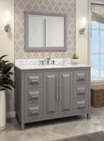 "Jeffrey Alexander Cade Contempo 48"" Vanity With Pre-assembled Top and Bowl"