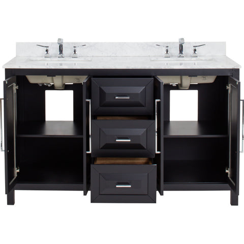 "Jeffrey Alexander Cade Contempo 60"" Vanity With Pre-assembled Top and Bowl"