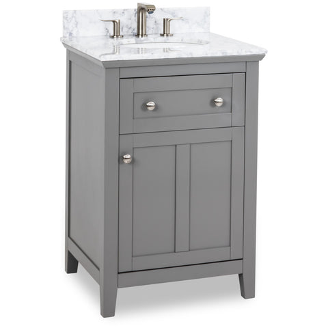 "Chatham Shaker Jeffrey Alexander Vanity 24"" With Pre-assembled Top and Bowl"