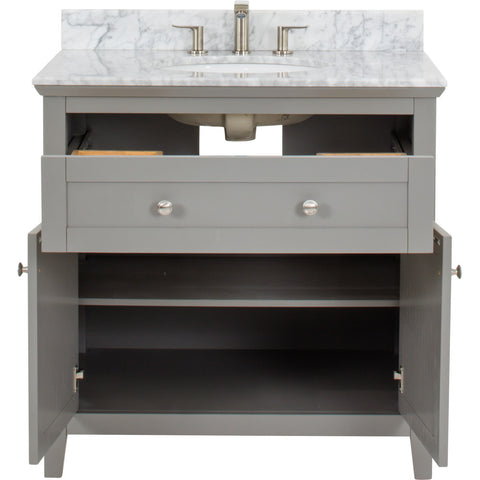 "Chatham Shaker Jeffrey Alexander Vanity 36"" With Pre-assembled Top and Bowl"