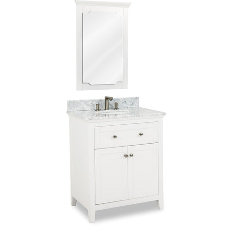 "Chatham Shaker Jeffrey Alexander Vanity 30"" With Pre-assembled Top and Bowl"