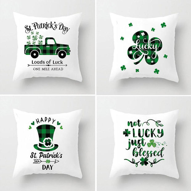 St. Patrick's Day Linen Pillow Cases