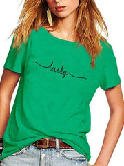 Women's Lucky Green Short Sleeve T-Shirt
