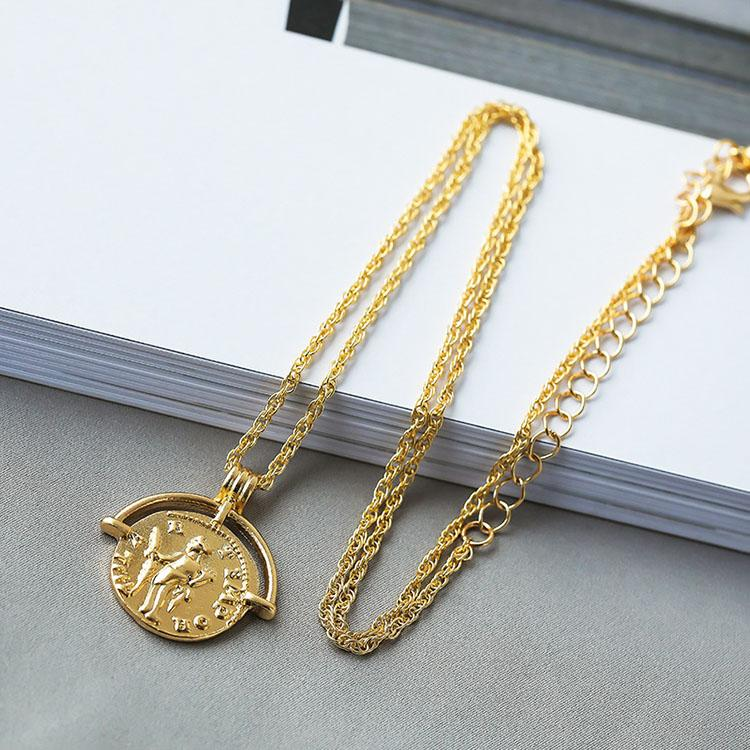 Vintage Roman Coin Necklace