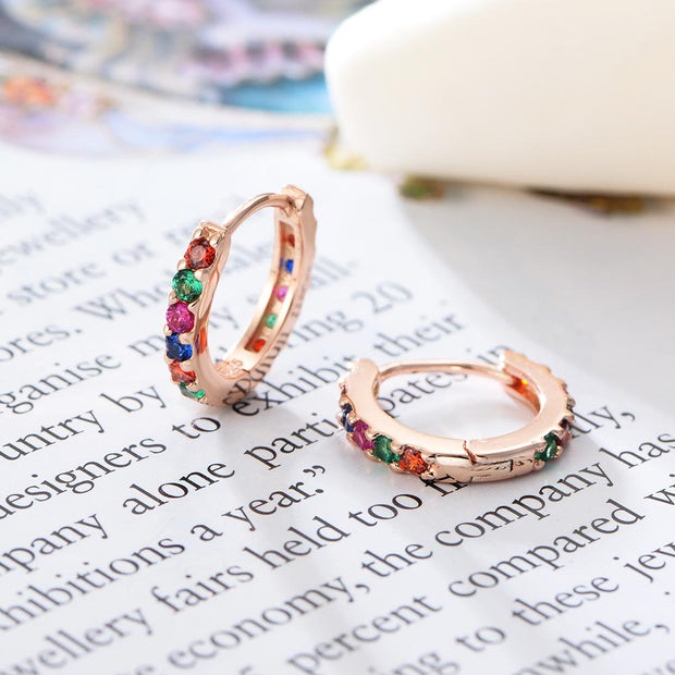 Colorful Gems S925 Silver Women Earring