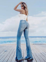 Flare Jeans with Holes