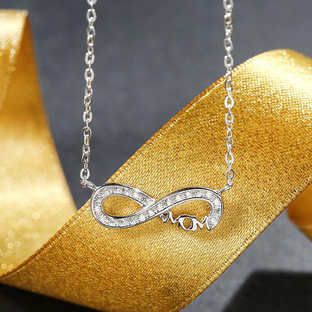 Mom S925 Silver Infinity Necklace