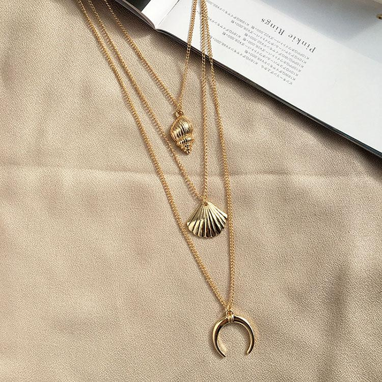 Marine Animal Shell Conch Necklace