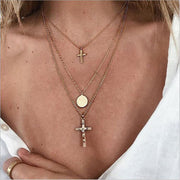 The Cross Multideck Chain Necklace