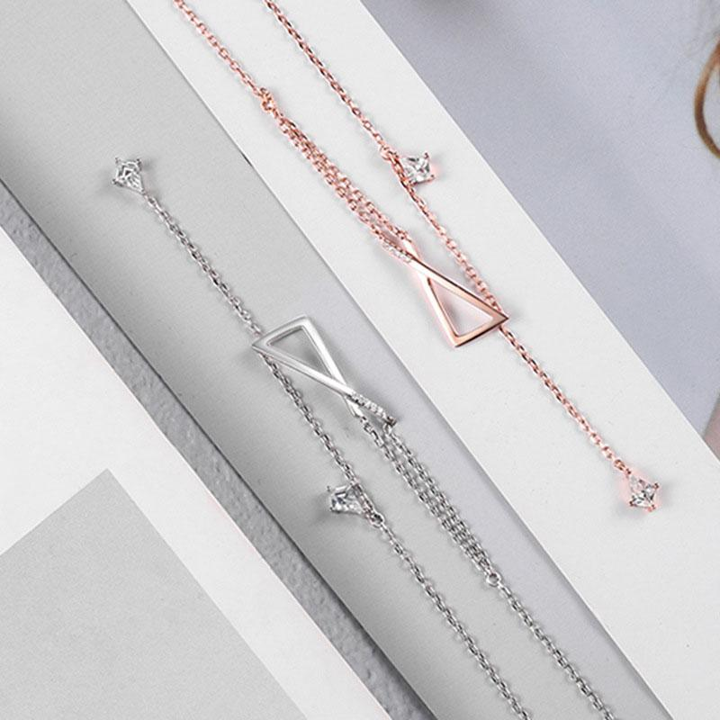 Gemstone Long Style S925 Silver Necklace
