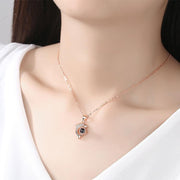 Love Drop Shadow Dolphin S925 Silver Necklace