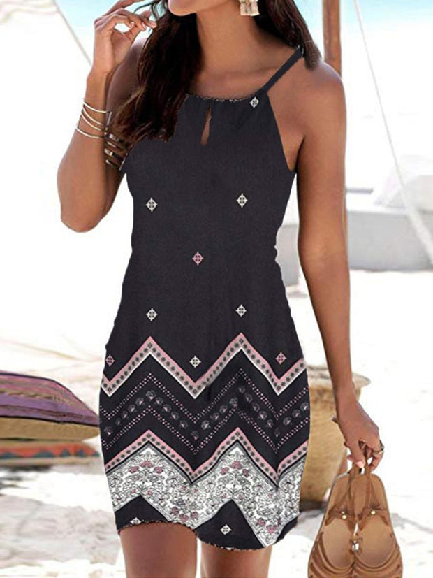 Summer Sling Slim Fit Sleeveless Casual Dress