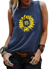 Sunflower Sleeveless T-shirt