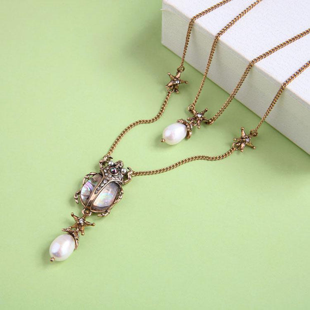 Pearl  Insect Necklace