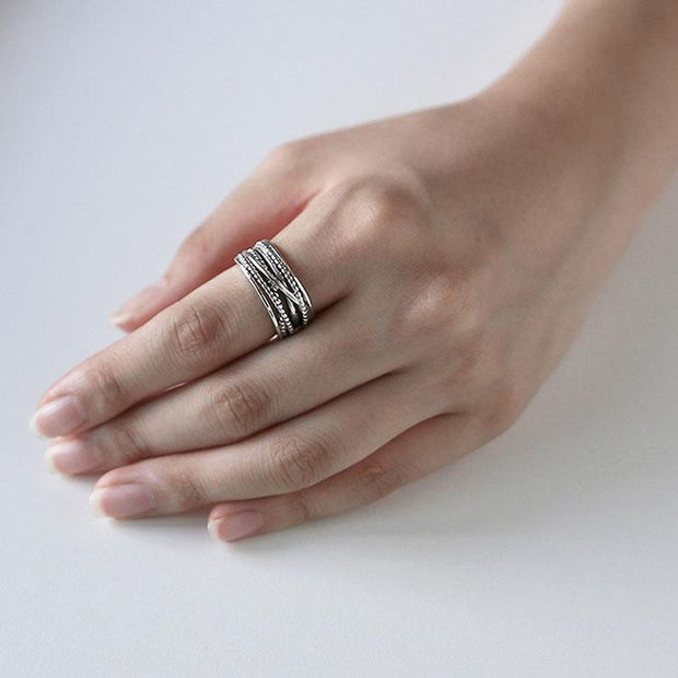 Vintage S925 Silver  Open Ring
