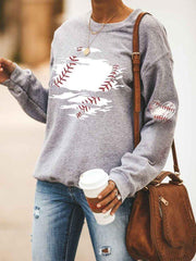 Baseball Printed Sweatshirt