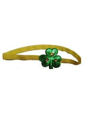 St. Patrick's Day Irish Festival Clover Sequins With Drill Buckle