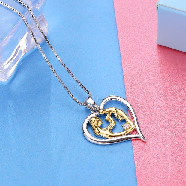 Love Mother and Child S925 Silver Necklace