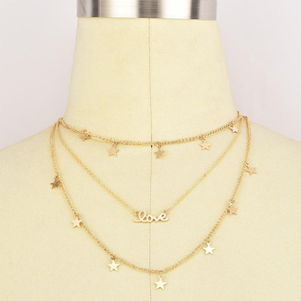 Stars Love Layered Necklace