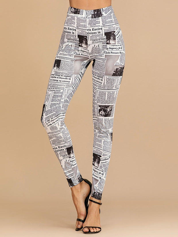 Printed Slim Fit High Waist Leggings