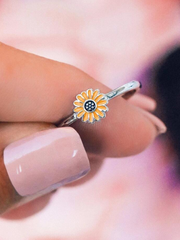 Sunflower Adjustable Ring/Earrings