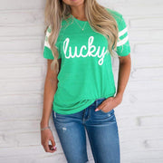 Splicing Shamrock lucky Tops - S - Green