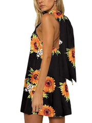 Sunflower print Shift Dresses