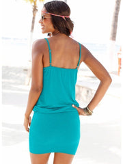 V-Neck Adjustable Bodycon Dress