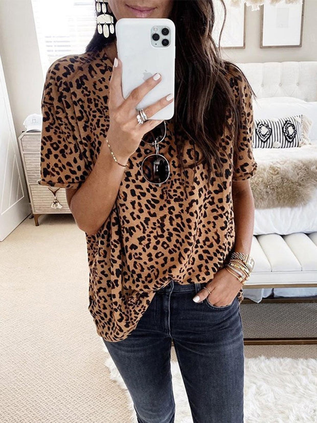 Leopard Short Sleeves T-shirt
