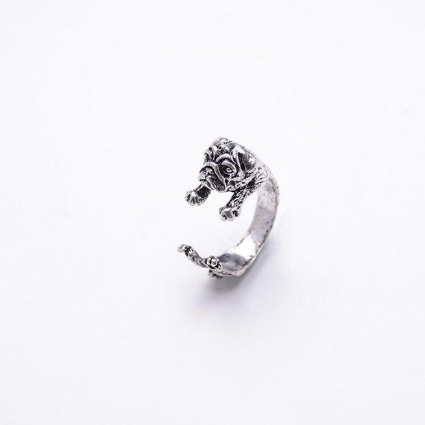 Vintage  Cute Dog Open Ring