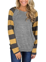 Long Sleeve Color Splice T-shirt