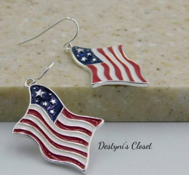 Independent Day American Flag Earrings