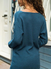 V-neck Loose Knitting Casual Sweater