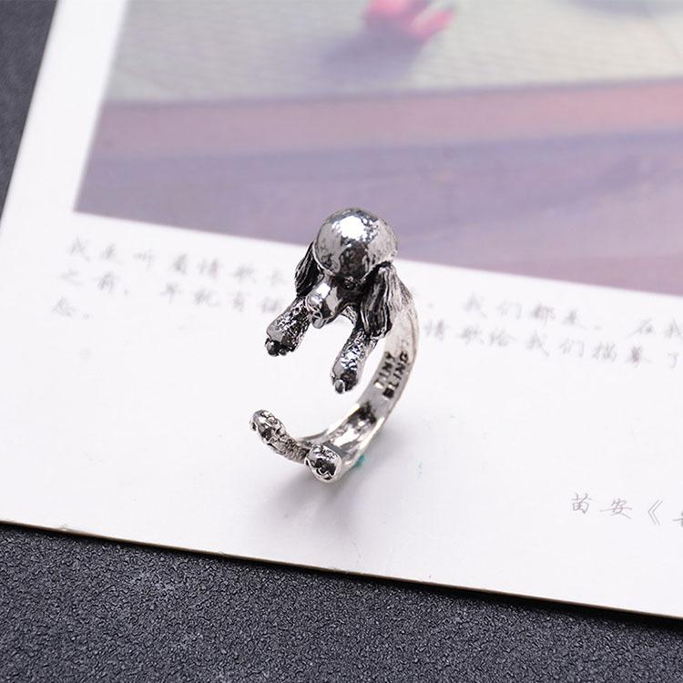 Vintage Cute Poodle Open Ring