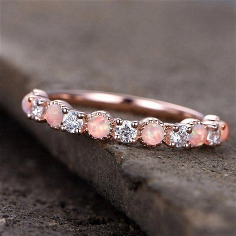 Pink Opal Gemstone Ring