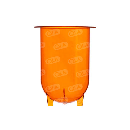 1000mL Amber Plastic Footed Vessel, Agilent/VanKel compatible