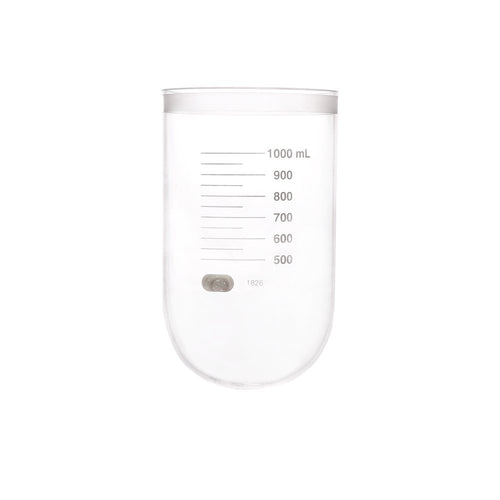 1000mL Clear Glass Vessel, No Collar, Agilent/ VanKel TruCenter/V-Series compatible