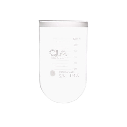 1000mL Clear UltraCenter Precision Glass Vessel, No Collar, Agilent/VanKel TruCenter/V-Series compatible